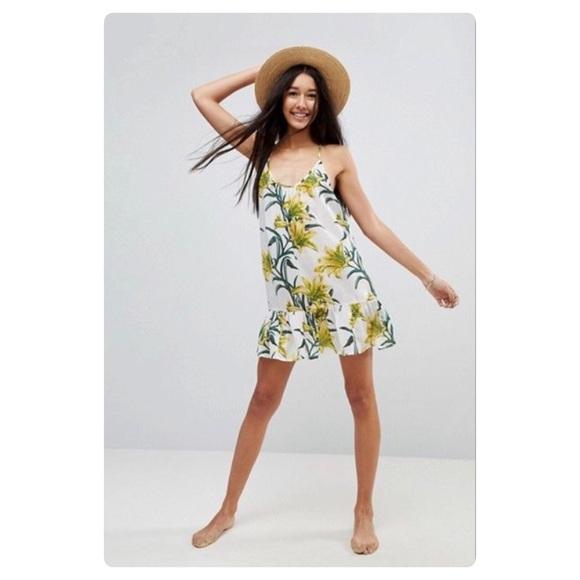 a86c5607cc ASOS Swim | Cover Dress Sundress Yellow Lily | Poshmark